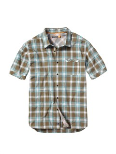 BRNMen s Aganoa Bay Short Sleeve Shirt by Quiksilver - FRT1
