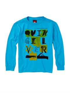 BMJ0Boys 2-7 Old Brew Long Sleeve Hooded T-Shirt by Quiksilver - FRT1