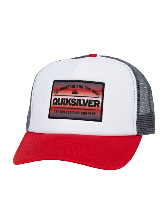 RQV0Please Hold Trucker Hat by Quiksilver - FRT1
