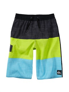 GJZ3Boys 8- 6 Kelly Boardshorts by Quiksilver - FRT1