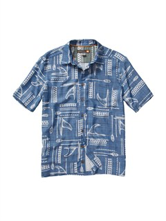 BQP0Men s Aganoa Bay Short Sleeve Shirt by Quiksilver - FRT1