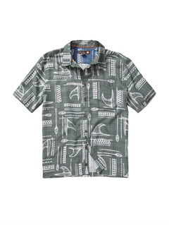 GNT0Men s Baracoa Coast Short Sleeve Shirt by Quiksilver - FRT1