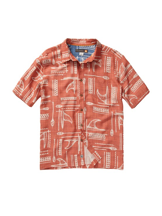 NNV0Men s Aganoa Bay Short Sleeve Shirt by Quiksilver - FRT1