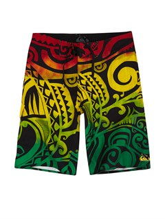 RNN0Boys 8- 6 Kelly Boardshorts by Quiksilver - FRT1