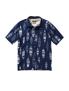 BRD0Men s Deep Water Bay Short Sleeve Shirt by Quiksilver - FRT1