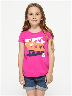 PNLGirls 2-6 Block Rocks Harmony Tee by Roxy - FRT1