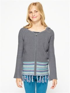 CAQGirls 7- 4 Believe Printed B Sweater by Roxy - FRT1