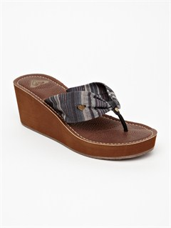 BLKAerial Wedge Sandals by Roxy - FRT1