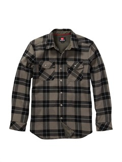 KQC1Simple Question Long Sleeve Flannel Shirt by Quiksilver - FRT1