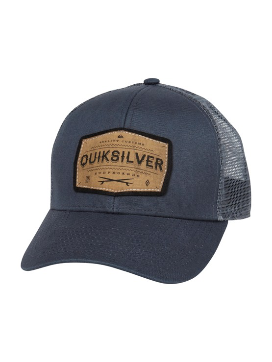 BRQ0Please Hold Trucker Hat by Quiksilver - FRT1