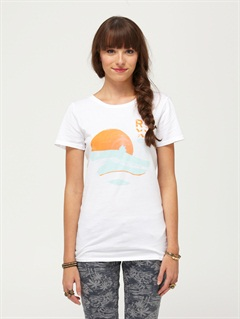 WHTRoxy Wave V-Neck Tee by Roxy - FRT1